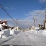 雪に埋もれた美瑛町